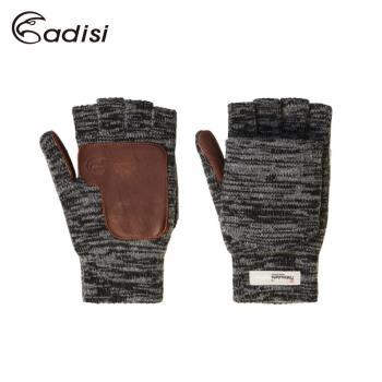 情人節 保暖 手套 羊毛 美麗諾羊毛露指翻蓋保暖手套 ADISI AS17112 (L)男版 / 城市綠洲