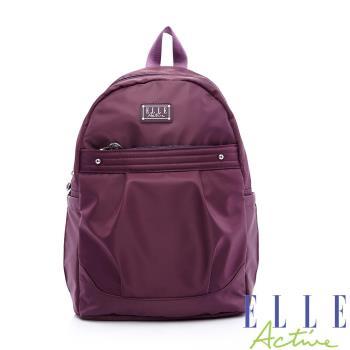 ELLE ACTIVE 優雅隨行系列-後背包-紫色
