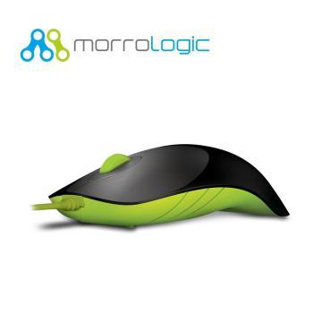 【MorroLogic】 繽紛蘋果鯊USB精密光學有線滑鼠 BLG黑綠