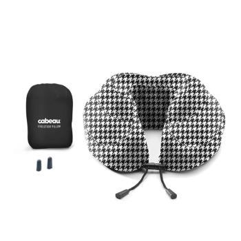 【CABEAU】旅行用記憶頸枕 (千鳥格) 飛機枕-行動