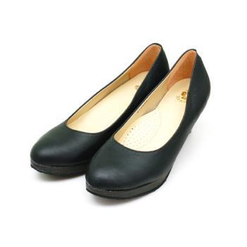 【 101大尺碼女鞋】│大尺碼系列│MIT 質感時尚前墊高高跟美鞋 (黑霧色) -0651220100-154