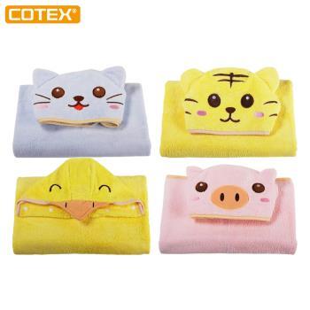 【COTEX可愛動物大浴巾】+【COTEX微笑貝爾熊浴巾】