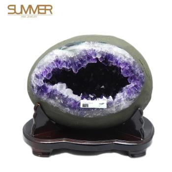 SUMMER寶石 圓滿招財天然紫晶洞《5.2KG》(X049)