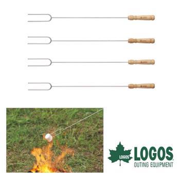 LOGOS BBQ串燒叉LG81335002(四入)/城市綠洲(烤肉、露營、串燒叉、野炊、營火)