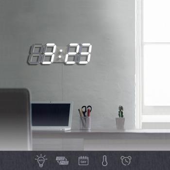 3D LED立體數字鐘 (大款) 電子鬧鐘 牆面立體掛鐘 LED時鐘 LED掛鐘 數字鐘