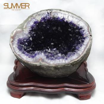 【SUMMER寶石】5A+等級ESP烏拉圭原皮紫晶洞《8.9KG》(OS11)