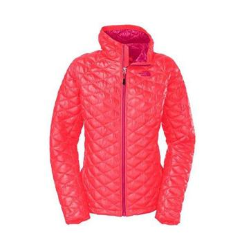 The North Face 女 ThermoBall保暖兜帽外套 紅毛丹粉 C774G14
