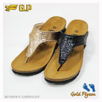 G.P 休閒個性柏肯鞋W783-黑色/金色(SIZE:35-39 共二色)