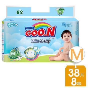 GOO.N 日本大王紙尿褲-國際版小包裝M(38片x8串/箱)