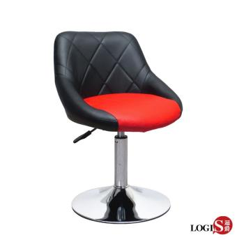 LOGIS邏爵- 愛麗絲低吧台椅(黑背紅坐)/低吧檯椅/工作椅/美容椅/休閒椅/美髮LOG-174D