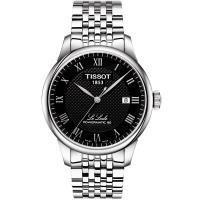 TISSOT 天梭 LE LOCLE 力洛克80動力儲存機械錶(黑/40mm) T0064071105300