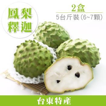【家購網嚴選】鳳梨釋迦5斤禮盒裝(中/約6~7顆)X2盒