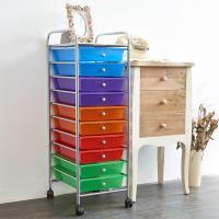 【HR安室家】可移式十層漾彩款抽屜收納箱/收納盒-G010S