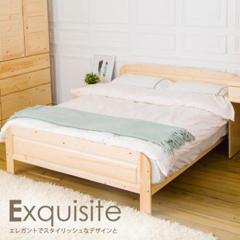 【時尚屋】[CG8]千鶴5尺白松木雙人床CG8-082-5不含床頭櫃-床墊/免運費/免組裝/臥室系列