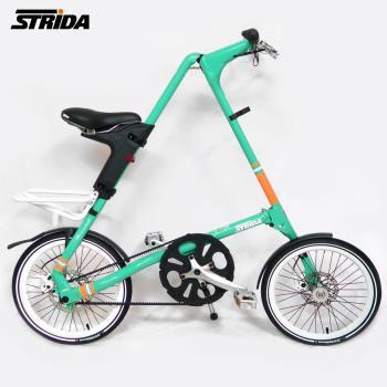 STRiDA 速立達 18吋SX 碟剎折疊單車(三角形單車)前後叉截色橘-薄荷綠