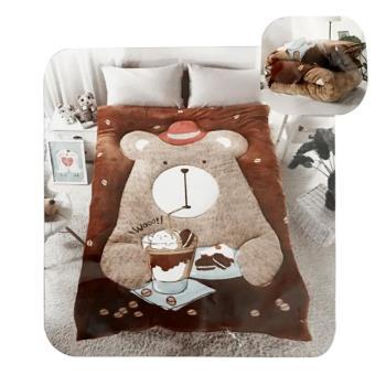 2017居家生活 系列 法蘭絨 冬被-吃貨熊