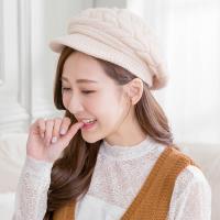 Wonderland 針織保暖造型帽-杏