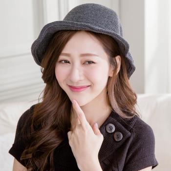 Wonderland 韓國東大門羊毛保暖針織毛線帽-深灰