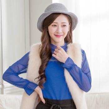 Wonderland 韓國東大門羊毛保暖針織毛線帽-灰