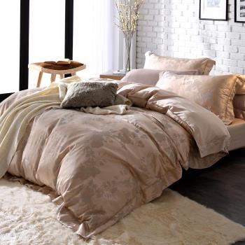 HOYA H Series璀璨時光 雙人四件式臻絲長纖棉緹花被套床包組-贈蠶絲被