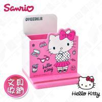 【Hello Kitty】三麗鷗凱蒂貓桌上直式 鉛筆收納盒 筆筒 手機架 文具收納(正版授權)