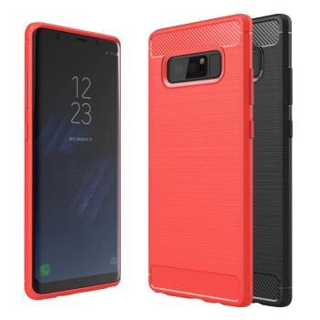 YANGYI 揚邑-Samsung Galaxy Note 8 6.3吋 碳纖維拉絲紋軟殼散熱防震抗摔手機殼
