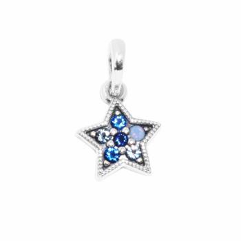 【PANDORA 潘朵拉】2017新款閃閃星光鋯石水晶純銀垂飾串珠(396376NSBMX)