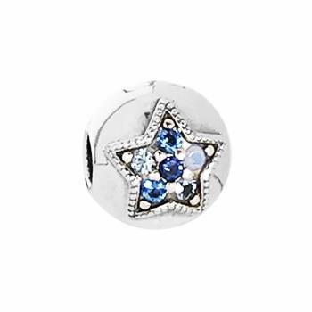 【PANDORA 潘朵拉】2017新款閃閃星光鋯石水晶純銀墜飾扣珠(796380 NSBMX)