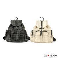 La Moda 特色格紋設計大容量後背包(共2色)
