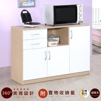 【Hopma】三門二抽五格廚房櫃