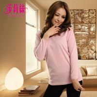 ~莎莉絲~~ 製~冬天 ‧雙層保溫混紡羊毛衛生衣 M~XL 粉色