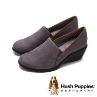 Hush Puppies Fraulein lady舒適時尚厚底楔型女鞋-灰(另有黑)