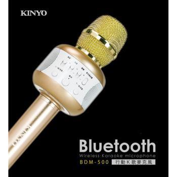 KINYO雙立體聲喇叭行動K歌麥克風BDM-500