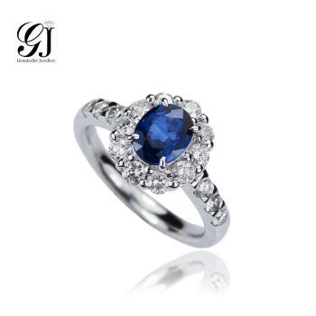晉佳珠寶 Gemdealler Jewellery 純真的守護者 藍寶石花鑽戒