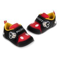 《布布童鞋》Disney迪士尼米奇經典紅黑色兒童休閒鞋(13~16公分) [ D7N032D ] 黑色款
