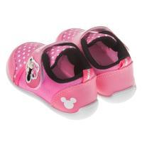 《布布童鞋》Disney迪士尼米妮經典桃紅色兒童休閒鞋(13~16公分) [ D7P033H ] 桃色款
