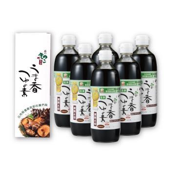 日本嚴選森產業香菇醬油湯露(素食)500ml *6入/組