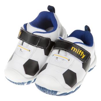 《布布童鞋》Miffy米飛兔黑色足球寶寶學步鞋(13.5~16公分) [ L7Y012D ]   黑色款