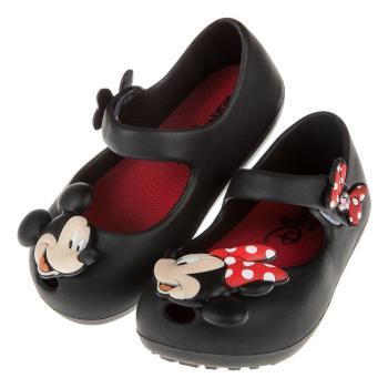 《布布童鞋》Disney迪士尼米奇米妮兩小無猜黑色輕便公主涼鞋(14~19公分) [ D7P007D ] 黑色款