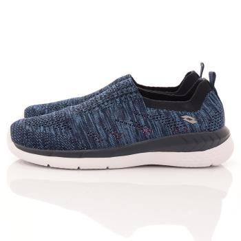Lotto樂得-飛織輕走鞋-WX5906藍(女段)