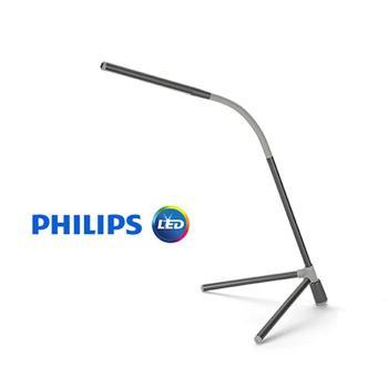 PHILIPS飛利浦  酷泓可攜式LED檯燈(鐵灰色)66046