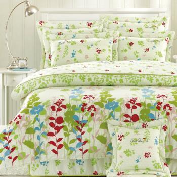 Arnold Palmer雨傘牌 米鳥語花香-40紗精梳純棉床罩雙人七件組