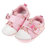 《布布童鞋》ArnoldPalmer雨傘牌粉紅小碎花寶寶學步鞋(13~15.5公分) [ M7P215G ] 粉色款