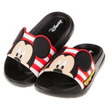 《布布童鞋》Disney迪士尼米奇黑色兒童超輕量拖鞋(15~21公分) [ D7R004D ] 黑色款