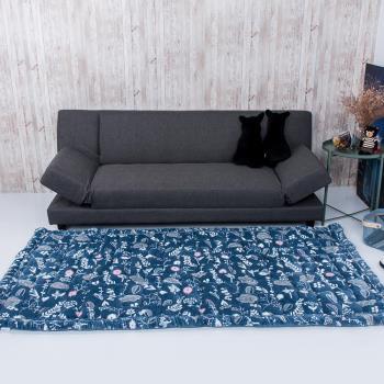 韓式加厚法蘭絨地毯榻榻米饅頭墊150x200公分