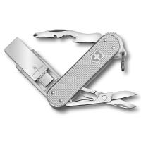 VICTORINOX 瑞士維氏ALOX金屬殼6用USB瑞士刀-銀 46261.26G16B1