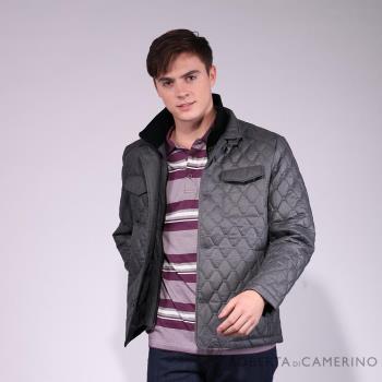 ROBERTA諾貝達 可拆內領 內裡鋪棉 大菱格夾克外套HOE56-95灰色