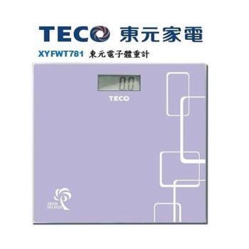 東元 TECO 時尚電子體重計 XYFWT781 -買就送手機扣環
