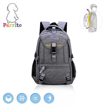 Perrito 貝瑞童-牛仔學園核心護脊兒童書包-灰色