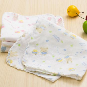 DF 童趣館 - 寶寶紗布手帕/紗布洗澡巾/口水巾(12入)